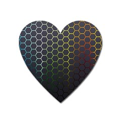Hexagons Honeycomb Heart Magnet by Mariart