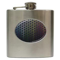 Hexagons Honeycomb Hip Flask (6 Oz) by Mariart