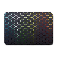Hexagons Honeycomb Small Doormat  by Mariart