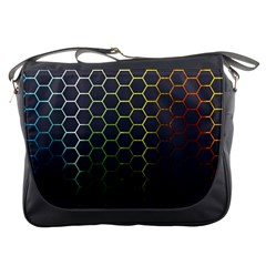 Hexagons Honeycomb Messenger Bags by Mariart