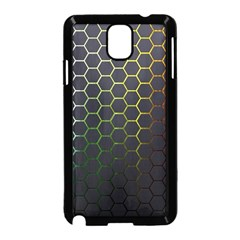 Hexagons Honeycomb Samsung Galaxy Note 3 Neo Hardshell Case (black) by Mariart