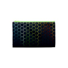 Hexagons Honeycomb Cosmetic Bag (xs) by Mariart