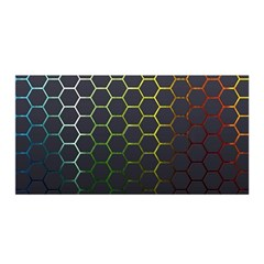 Hexagons Honeycomb Satin Wrap by Mariart