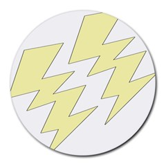 Lightning Yellow Round Mousepads by Mariart