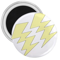 Lightning Yellow 3  Magnets by Mariart