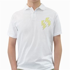 Lightning Yellow Golf Shirts by Mariart