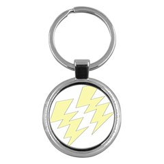 Lightning Yellow Key Chains (round)  by Mariart