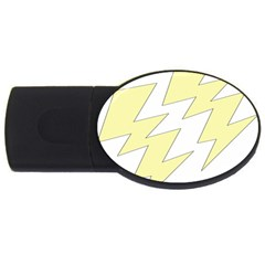 Lightning Yellow Usb Flash Drive Oval (2 Gb) by Mariart