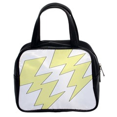 Lightning Yellow Classic Handbags (2 Sides) by Mariart
