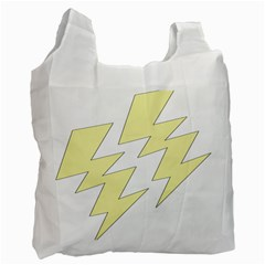 Lightning Yellow Recycle Bag (one Side) by Mariart
