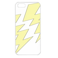 Lightning Yellow Apple Iphone 5 Seamless Case (white) by Mariart
