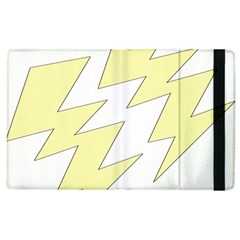 Lightning Yellow Apple Ipad 2 Flip Case by Mariart