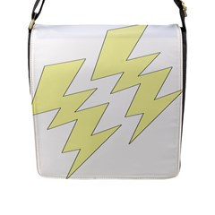 Lightning Yellow Flap Messenger Bag (l)