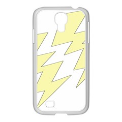 Lightning Yellow Samsung Galaxy S4 I9500/ I9505 Case (white) by Mariart