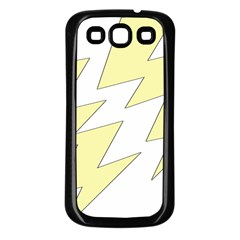 Lightning Yellow Samsung Galaxy S3 Back Case (black) by Mariart
