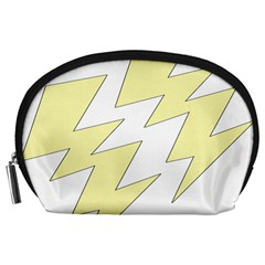 Lightning Yellow Accessory Pouches (large)  by Mariart