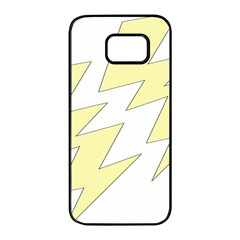 Lightning Yellow Samsung Galaxy S7 Edge Black Seamless Case by Mariart