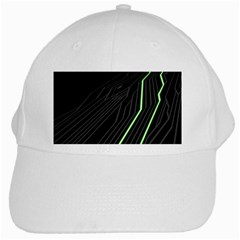 Green Lines Black Anime Arrival Night Light White Cap by Mariart