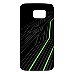 Green Lines Black Anime Arrival Night Light Galaxy S6 by Mariart