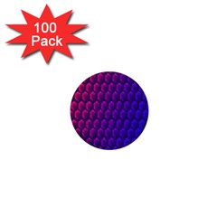 Hexagon Widescreen Purple Pink 1  Mini Buttons (100 Pack)  by Mariart