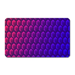 Hexagon Widescreen Purple Pink Magnet (rectangular) by Mariart