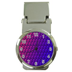 Hexagon Widescreen Purple Pink Money Clip Watches by Mariart