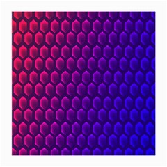 Hexagon Widescreen Purple Pink Medium Glasses Cloth (2 Side) by Mariart
