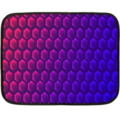 Hexagon Widescreen Purple Pink Fleece Blanket (mini) by Mariart