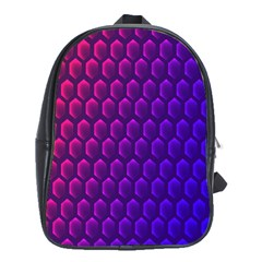 Hexagon Widescreen Purple Pink School Bags(large)