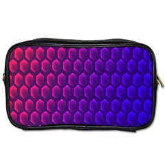 Hexagon Widescreen Purple Pink Toiletries Bags 2 Side by Mariart