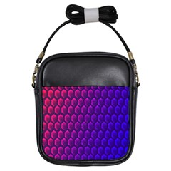 Hexagon Widescreen Purple Pink Girls Sling Bags by Mariart