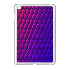 Hexagon Widescreen Purple Pink Apple Ipad Mini Case (white) by Mariart
