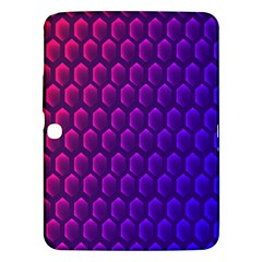 Hexagon Widescreen Purple Pink Samsung Galaxy Tab 3 (10 1 ) P5200 Hardshell Case