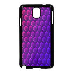 Hexagon Widescreen Purple Pink Samsung Galaxy Note 3 Neo Hardshell Case (black) by Mariart