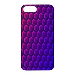 Hexagon Widescreen Purple Pink Apple Iphone 7 Plus Hardshell Case by Mariart