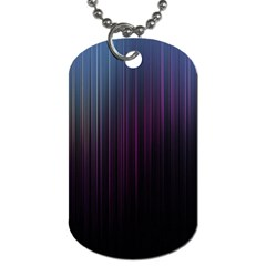 Moonlight Light Line Vertical Blue Black Dog Tag (two Sides) by Mariart