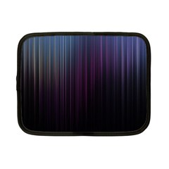 Moonlight Light Line Vertical Blue Black Netbook Case (small)  by Mariart