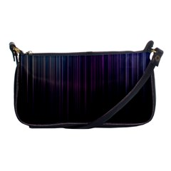 Moonlight Light Line Vertical Blue Black Shoulder Clutch Bags by Mariart