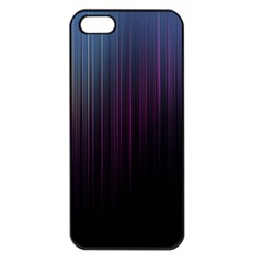 Moonlight Light Line Vertical Blue Black Apple Iphone 5 Seamless Case (black) by Mariart