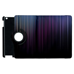 Moonlight Light Line Vertical Blue Black Apple Ipad 3/4 Flip 360 Case by Mariart