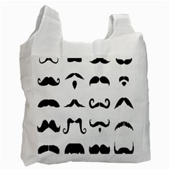 Mustache Man Black Hair Style Recycle Bag (two Side)  by Mariart