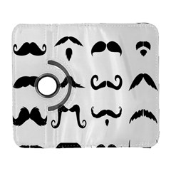 Mustache Man Black Hair Style Galaxy S3 (flip/folio) by Mariart