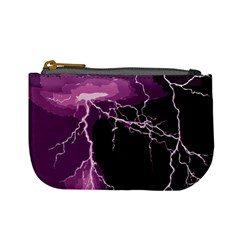Lightning Pink Sky Rain Purple Light Mini Coin Purses by Mariart