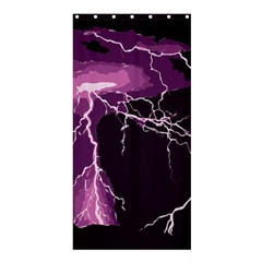 Lightning Pink Sky Rain Purple Light Shower Curtain 36  X 72  (stall)  by Mariart