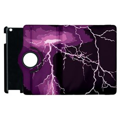 Lightning Pink Sky Rain Purple Light Apple Ipad 3/4 Flip 360 Case by Mariart