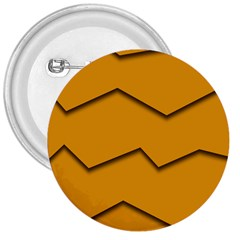 Orange Shades Wave Chevron Line 3  Buttons by Mariart