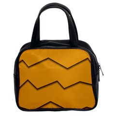Orange Shades Wave Chevron Line Classic Handbags (2 Sides) by Mariart