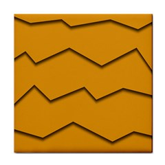 Orange Shades Wave Chevron Line Face Towel by Mariart