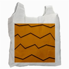 Orange Shades Wave Chevron Line Recycle Bag (one Side) by Mariart