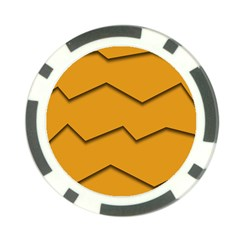 Orange Shades Wave Chevron Line Poker Chip Card Guard (10 Pack) by Mariart